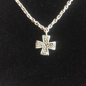 Lois Hill silver cross necklace 925